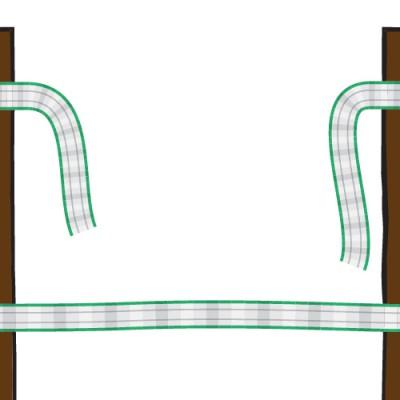 1. Individua il punto in cui il recinto è lacerato.