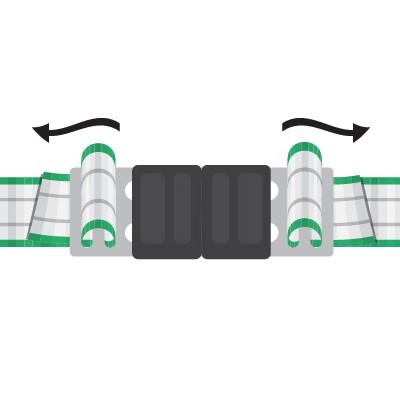 Schritt 2b - Enden in den Litzclip® einfädeln.
