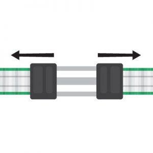 Litzclip Bandverbinder Kappen schließen.