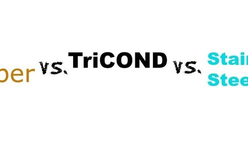 Copper vs. TriCOND vs Stainless Steel