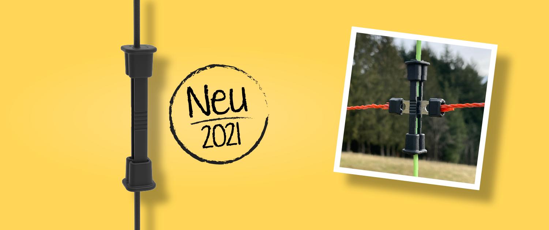 Neu: Litzclip Vertikalstrebenverbinder für gebrochene Streben in Weidenetzen