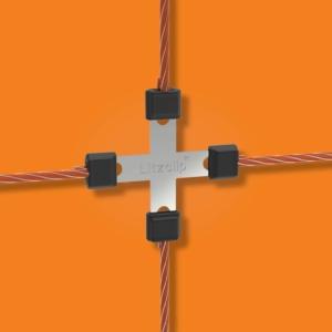 Litzclip Wire Connector cross for willow net